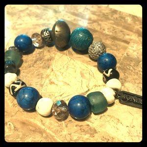Honesty Bracelet - Blue & Cream
